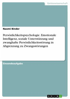 Persönlichkeitspsychologie. Emotionale Intelligenz, soziale Unterstützung und zwanghafte Persönlichkeitsstörung in Abgrenzung zu Zwangsstörungen (eBook, PDF)