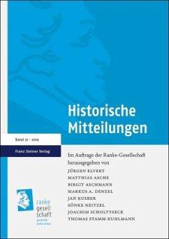 Historische Mitteilungen 31 (2019)