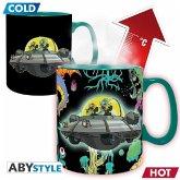ABYstyle - Rick & Morty Spaceship Thermoeffekt Tasse
