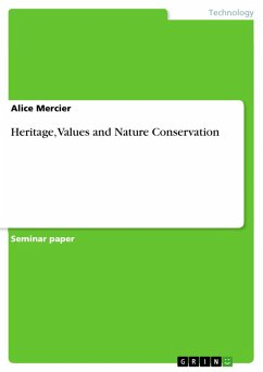 Heritage, Values and Nature Conservation (eBook, PDF)