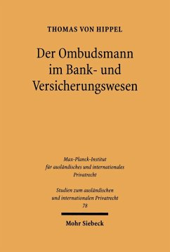 Der Ombudsmann im Bank- und Versicherungswesen (eBook, PDF) - Hippel, Thomas Von