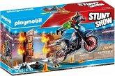 PLAYMOBIL® 70553 Stuntshow Motorrad mit Feuerwand