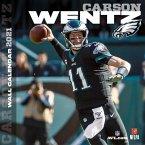 Philadelphia Eagles Carson Wentz 2021 12x12 Player Wall Calendar