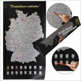 Scratchkarte Deutschland mit Silikonschicht