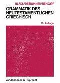Grammatik des neutestamentlichen Griechisch (eBook, PDF)