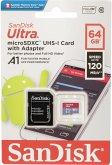 SanDisk Ultra microSDXC A1 64GB 120MB/s Adapt.SDSQUA4-064G-GN6MA