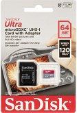 SanDisk Ultra microSDXC 64GB 120MB/s.Adapt.SDSQUA4-064G-GN6IA