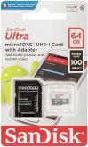 SanDisk Ultra Lite microSDXC Ad. 64GB 100MB/s SDSQUNR-064G-GN3MA