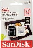 SanDisk Ultra Lite microSDHC Ad. 32GB 100MB/s SDSQUNR-032G-GN6TA