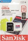 SanDisk Ultra microSDHC A1 32GB 120MB/s Adapt.SDSQUA4-032G-GN6MA