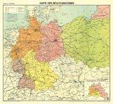 Historische Karte: DEUTSCHLAND - BESATZUNGSZONENKARTE 1946