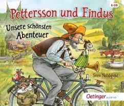 Pettersson und Findus. Unsere schönsten Abenteuer, 5 Audio-CD - Nordqvist, Sven
