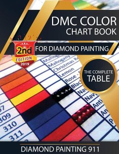 DMC Color Chart Book for Diamond Painting - Painting 911, Diamond