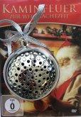 Kaminfeuer DVD und Bluetooth® Lautsprecher für den Weihnachtsbaum in Silber
