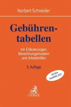 Gebührentabellen - Schneider, Norbert