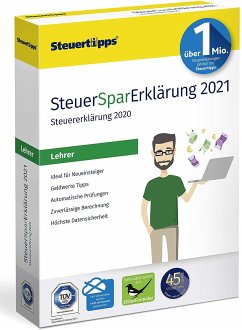 SteuerSparErklärung 2021 Lehrer, 1 CD-ROM