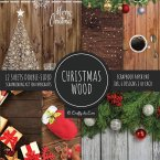 Christmas Wood Scrapbook Paper Pad 8x8 Scrapbooking Kit for Papercrafts, Cardmaking, Printmaking, DIY Crafts, Holiday Themed, Designs, Borders, Backgrounds, Patterns