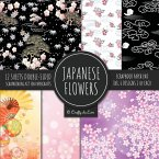 Japanese Flowers Scrapbook Paper Pad 8x8 Scrapbooking Kit for Papercrafts, Cardmaking, Printmaking, DIY Crafts, Floral Themed, Designs, Borders, Backgrounds, Patterns