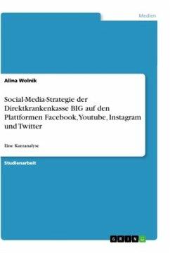 Social-Media-Strategie der Direktkrankenkasse BIG auf den Plattformen Facebook, Youtube, Instagram und Twitter