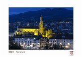 Florence 2021 - White Edition - Timocrates wall calendar with US holidays / picture calendar / photo calendar - DIN A4 (30 x 21 cm)