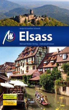 Elsass Reiseführer, m. 1 Karte (Mängelexemplar) - Schwab, Gunter;Schwab, Antje