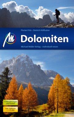 Dolomiten Reiseführer, m. 1 Karte (Mängelexemplar) - Höllhuber, Dietrich;Fritz, Florian