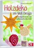 Holzdeko im Woll-Design (Mängelexemplar)