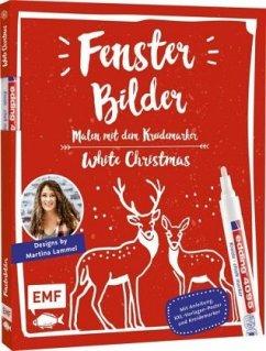 Vorlagenmappe Fensterbilder malen mit dem Kreidemarker - White Christmas (Mängelexemplar) - Lammel, Martina