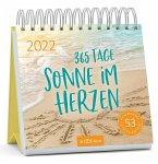 Postkartenkalender 365 Tage Sonne im Herzen 2022 - Wochenkalender mit abtrennbaren Postkarten