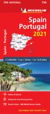 Spain & Portugal 2021 - Michelin National Map 734