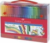 Faber-Castell Koffer Connector Filzstifte 60-teilig