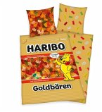 Herding 4492401050 - Haribo Goldbären, Cotton, Bettwäsche-Set, Kopfkissenbezug 80 x 80 cm, Bettbezug 135 x 200 cm,