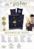 Herding 4474422050 - Harry Potter Bettwäsche-Set, Cotton, dunkelblau, 80 x 80 cm, 135 x 200 cm