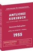 Kursbuch der Deutschen Reichsbahn - Sommerfahrplan 1955