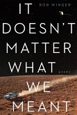 It Doesn't Matter What We Meant: Poems