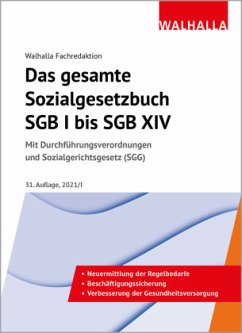 Das gesamte Sozialgesetzbuch SGB I bis SGB XIV - Walhalla Fachredaktion