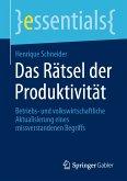 Das Rätsel der Produktivität (eBook, PDF)