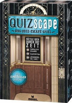 Moses Mos90973 - QuizScape, Quiz Escape Spiel, Rätsel Dich durch die Zeit, Familienspiel
