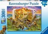 Ravensburger 12905 - Lexikon aus der Urzeit, Dinosaurier, Kinderpuzzle, 300 XXL-Teile