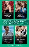 Modern Romance December 2020 Books 1-4: Cinderella's Christmas Secret / His Majesty's Forbidden Temptation / The Italian's Final Redemption / Bound as His Business-Deal Bride (eBook, ePUB)