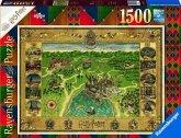 Ravensburger 16599 - Harry Potter, Hogwarts Karte, Puzzle, 1500 Teile
