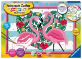 Ravensburger 28782 - Malen nach Zahlen, Liebenswerte Flamingos, Malset