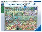 Ravensburger 16712 - Zwerge im Regal, Puzzle, 1500 Teile