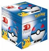 Ravensburger 11265 - Pokémon Pokéballs, Superball, 3D-Puzzelball, 54 Teile
