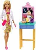Mattel GTN51 Barbie Kinderärztin Puppe (blond) mit Kleinkind und Spielset