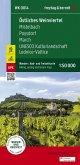 Östliches Weinviertel - Mistelbach - Poysdorf - March - UNESCO Kulturlandschaft Lednice-Valtice, Wander + Radkarte 1:50.
