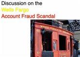 Discussion on the Wells Fargo Account Fraud Scandal (eBook, ePUB)