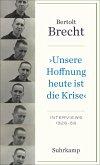 »Unsere Hoffnung heute ist die Krise« Interviews 1926-1956 (eBook, ePUB)