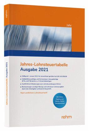 Jahres-Lohnsteuertabelle 2021 - Fachbuch - bücher.de