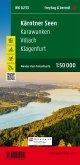 Kärntner Seen - Karawanken - Villach - Klagenfurt am Wörthersee, Wander + Radkarte 1:50.000